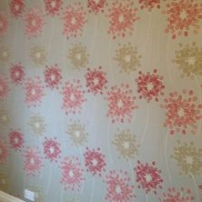selection of G.BORG wallpaper in customer house