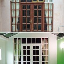 Before and after image of house decoration